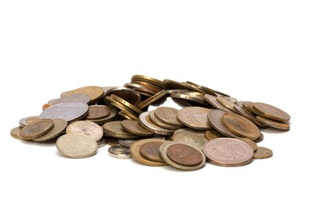 coins isolated on white background Stock Photo - 6747793