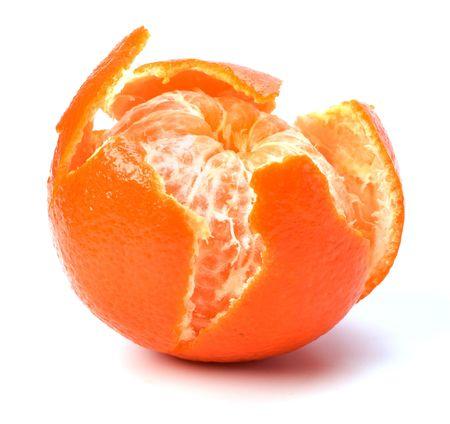 peeled mandarin isolated on white Stock Photo - 6747879
