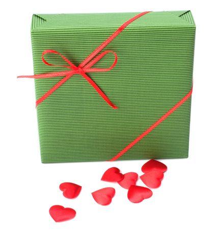 gift isolated on white photo