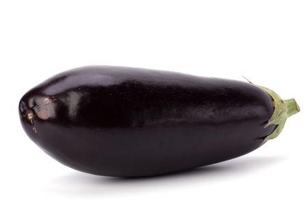 Eggplant isolated on white background photo
