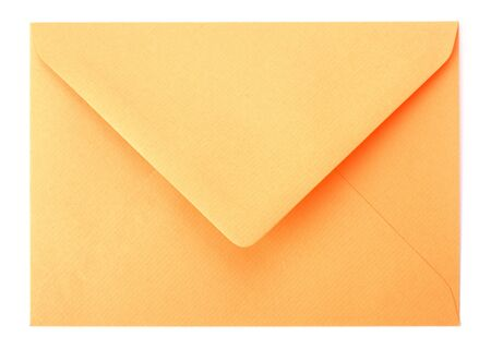 envelope isolated on white background photo