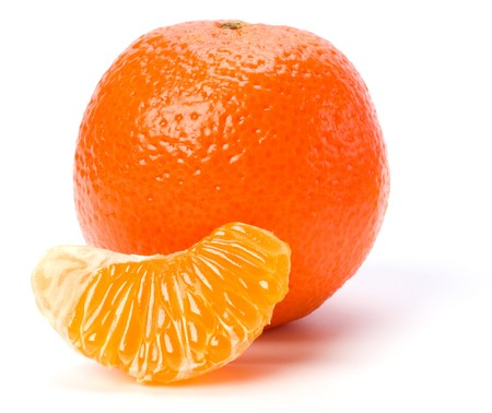 mandarin  isolated on white background Stock Photo - 6972977