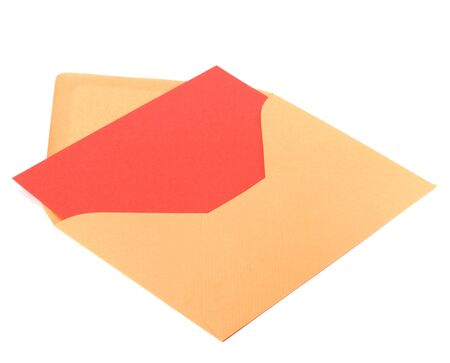 sealable: envelope with card isolated on white background