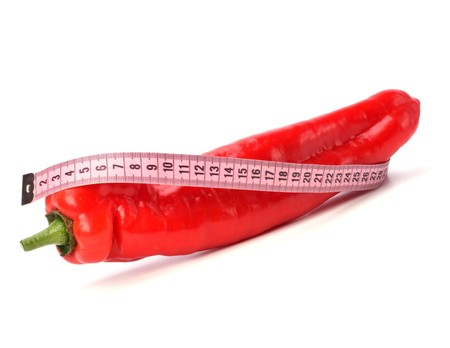 phallus: sexy pepper isolated on white background