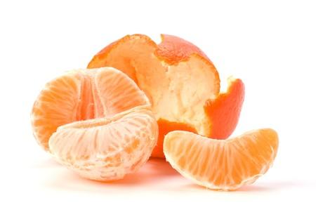 peeled mandari  isolated on white close up Stock Photo - 7302771