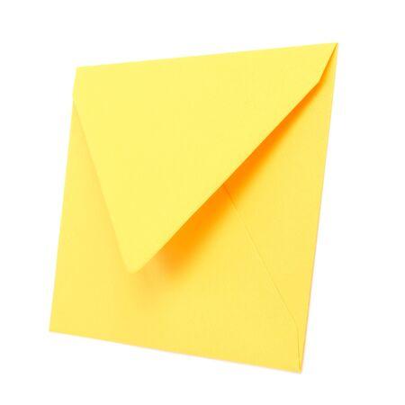 envelope isolated on white background close up