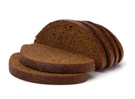 ted: rye bread isol ted on the white background Stock Photo