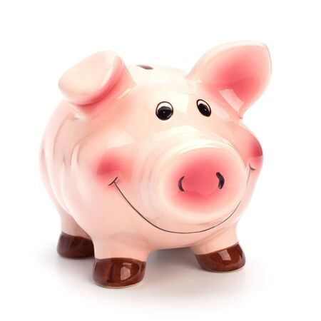 Lucky piggy bank isolated on white background Stock Photo - 7497033