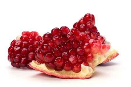 pomegranate isolated on white background close up photo