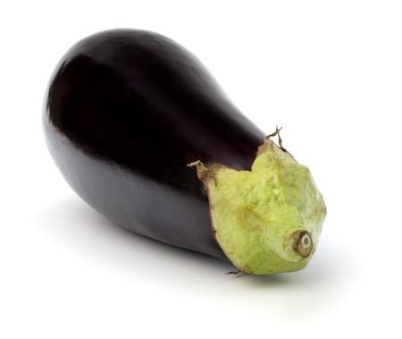 eggplant isolated on white background close up photo