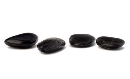 zen stones isolated on the white background photo