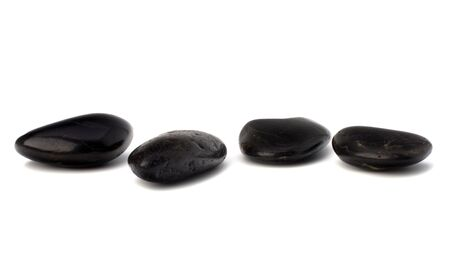zen stones isolated on the white background photo