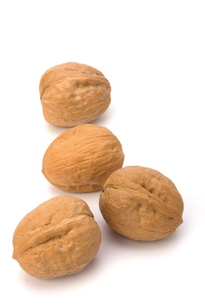 circassian: Circassian walnut isolated on the white background