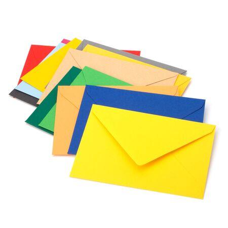 envelopes isolated on the white background close up