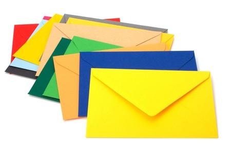 envelopes isolated on the white background