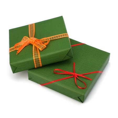 gifts isolated on white background close up photo