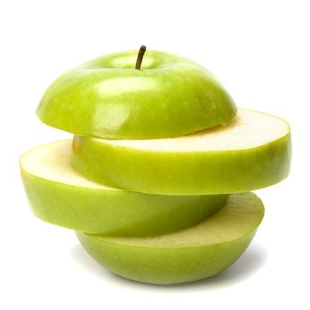 sliced apple: sliced apple isolated on white background