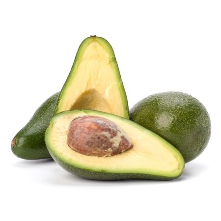 avocado isolated on white background photo