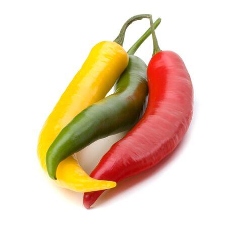 Chili pepper isolated on white background photo