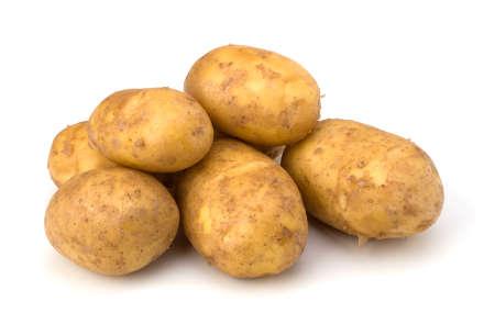 potatoes isolated on white background close up photo