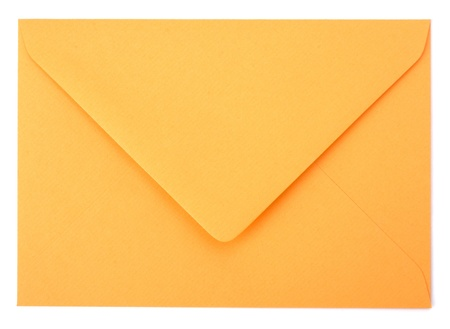 envelope isolated on the white background close up
