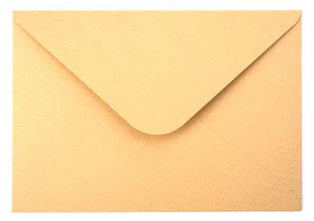 envelope isolated on the white background photo