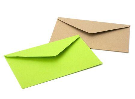 sealable: envelopes isolated on white background close up