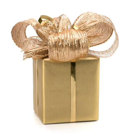 donative: Luxurious gift isolated on white background Stock Photo