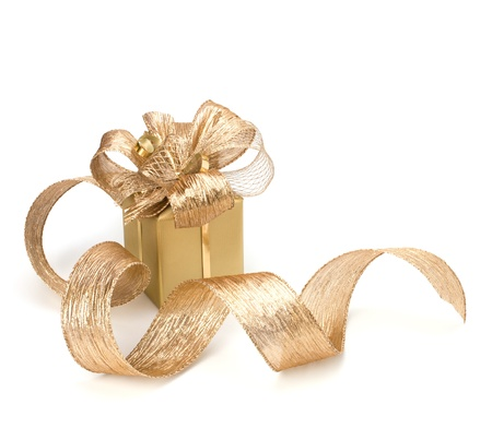 Luxurious gift isolated on white background Stock Photo - 8282338