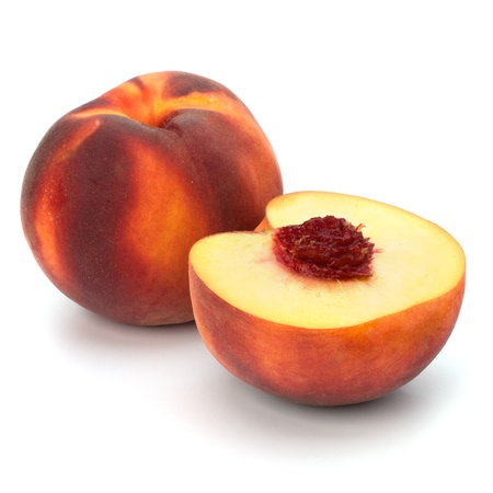 peach isolated on white background Stock Photo - 8283271