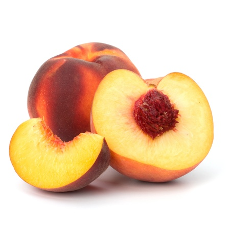 peach isolated on white background photo