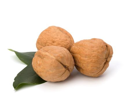 circassian: Circassian walnut isolated on white background close up
