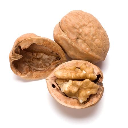 circassian: Circassian walnut isolated on white background