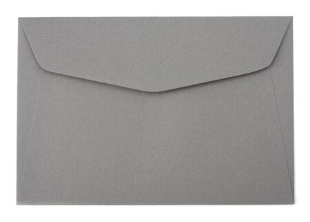 sealable: envelope isolated on the white background  close up Stock Photo