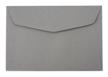 envelope isolated on the white background  close up photo