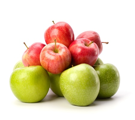 apples isolated on white background photo