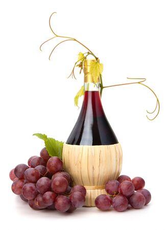 red wine bottle isolated on white background Stock Photo - 8527196