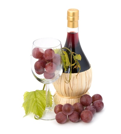 red wine bottle isolated on white background Stock Photo - 8527022