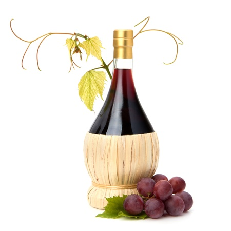 red wine bottle isolated on white background Stock Photo - 9054298