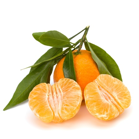 Tangerines isolated on white background photo