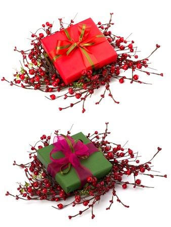 Beautiful gift box isolated on white background Stock Photo - 9053609