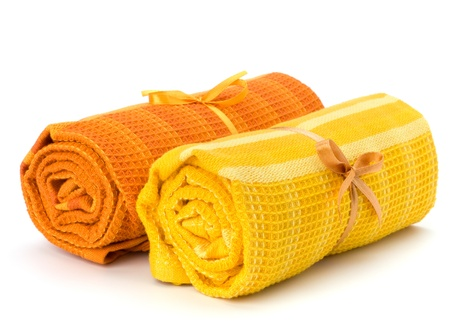 Towel roll  isolated on white background Stock Photo - 9053898