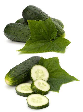 cucumber isolated on white background close up photo