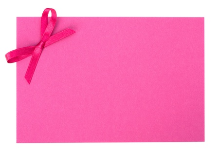 Blank gift tag  isolated on white background photo