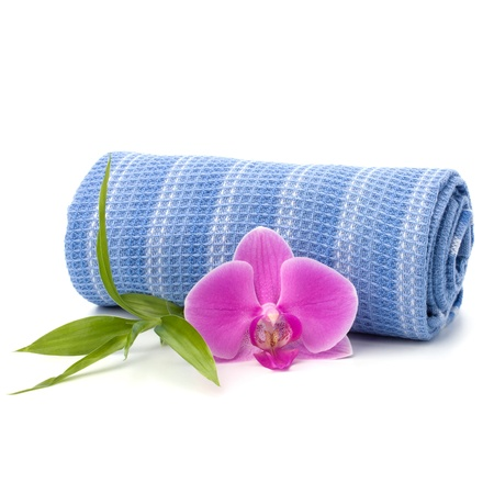 Spa concept. Towel roll. photo