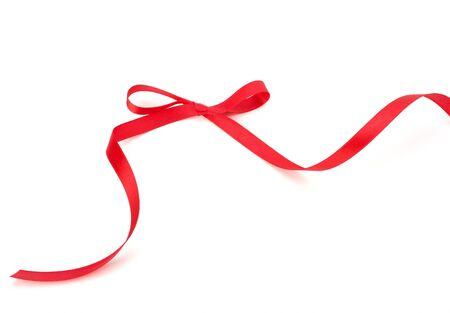 Beautiful gift ribbon isolated on white background photo