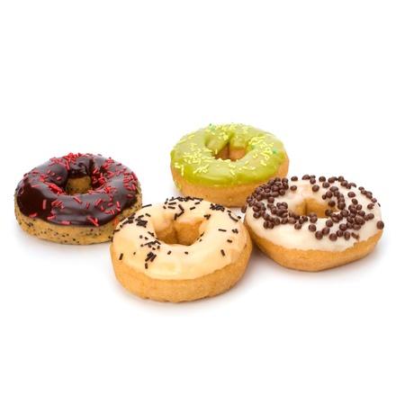 Delicious doughnut isolated on white background photo