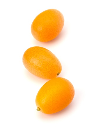 cumquat: Cumquat or kumquat isolated on white background close up