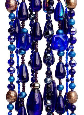 colourful beads background on white photo