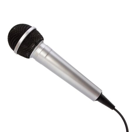 microphone isolated on white background photo
